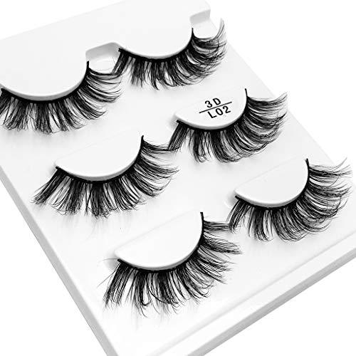 Dtuta Sexy Dicke Und GroßE Augen KüNstliche Falsche Wimpern Make-Up Set GüNstig Und Praktisch,Tanz/TäGlich/Dating