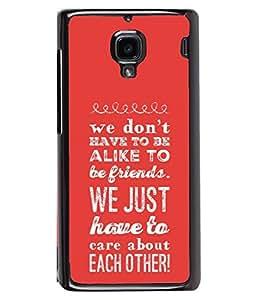 PrintVisa Designer Back Case Cover for Xiaomi Redmi 1S :: Xiaomi Hongmi 1S (Message Quote Proverbs Inspiration Motivation)