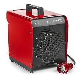 TROTEC Elektroheizgebläse TDS 29 E (max. 5 kW), Integriertes Thermostat, 2 Heizstufen, Kondensfreie Wärme