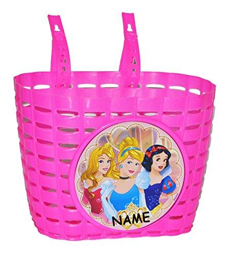 Unbekannt Fahrradkorb / Korb - Disney Prinzessinnen incl. Name - mit Befestigung den Lenker vorn - Fahrrad Motiv Arielle Belle Cinderella - auch für Roller und ()
