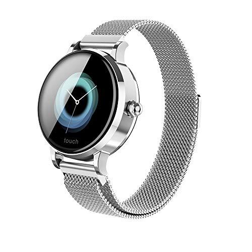 Smartwatch, Fitness Armband Wasserdicht Mit Blutdruckmessung Pulsuhren Farbbildschirm Bluetooth Smart Watch Schrittzähler Armbanduhr Anrufe SMS-Benachrichtigung Remote-Kamera für Frauen Männer(SL)
