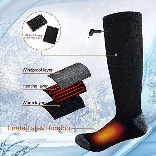 Calcetines Térmicos - Invierno Eléctrico Calcetines Calientes Climatizada para Hombre y Mujer Pies Crónicamente Fríos Calentador de Pies Ideal para Esquí Senderismo Pesca Cámping