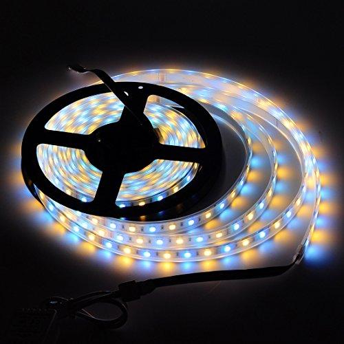 BTF-LIGHTING 5M 5050 RGBWW RGB + w?rmen wei?er Streifen Mischfarbe 60leds/m IP67 impr?gniern im Schlauch 300LEDs Band-Lampen mehrfarbige LED-Band-Lichter