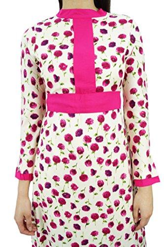 Bimba floral robe maxi d'hiver des femmes à long imprimé pashmina mélange Rose