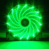 Meiyiu 12CM 120mm Red 15 LEDs Lights Fan Cooler Case PC Computer Cooling Tool Green