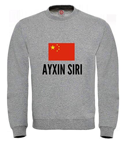 Felpa Ayxin siri city Gray