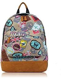 a966442774e4 Unisex Back To School Canvas Backpack Rucksack School bag College Work  Shoulder Bag