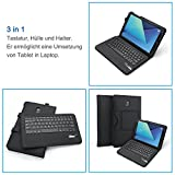 Jelly Comb Samsung Galaxy Tab S3 9.7 Tastatur Hülle, Bluetooth Keyboard Case Trennbare Wiederaufladbare QWERTZ Tastatur für Samsung Tab S3 9,7 Zoll, Schwarz für Jelly Comb Samsung Galaxy Tab S3 9.7 Tastatur Hülle, Bluetooth Keyboard Case Trennbare Wiederaufladbare QWERTZ Tastatur für Samsung Tab S3 9,7 Zoll, Schwarz