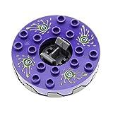 Bausteine gebraucht 1 x Lego System Ninjago Spinner flach 6x6 violett dunkel perl grau Schlangen Gift Drehscheibe Turntable ohne Gleitstein Set 9562 bb549c01pb01