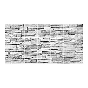 Apalis fliesenwandbild Bunte Bruchstein Mauerwerk, Fliesen Größe: 15cm x 20cm; Maße: 60cm x 120cm