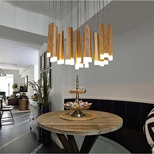 LINA-Lampadario in legno minimalista nordico