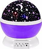Bestland Himmel-Stern-Nachtlicht Sun und Stern-Beleuchtung Lampe 4 LED Perlen 360