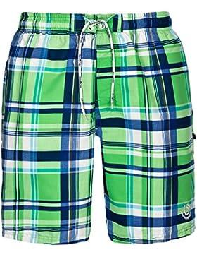 Bugatti®–Cuadros–Bañador para hombre en azul o verde