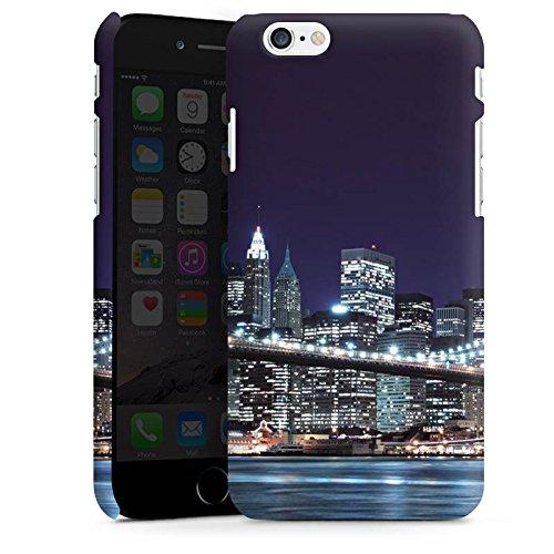 Apple iPhone X Tasche Hülle Flip Case Brooklyn Bridge New York Brücke Premium Case matt