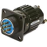Negro Aluminio hembra y macho conector Circular Y2M-7TK orificio de montaje 7pines 21mm/0.83inch para aviación Plug