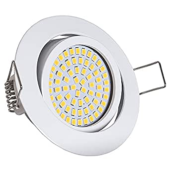 lu mi flache led einbaustrahler ultra flach einbaustrahler 350 lumen 230v 3 5w licht. Black Bedroom Furniture Sets. Home Design Ideas