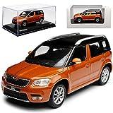Skoda Yeti 5L SUV Orange Modell 2009-2017 Ab Facelift 2013 1/43 Paudi Modell Auto