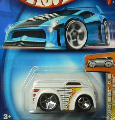 Mattel Hot Wheels 2004-012 First Editions Blings White Dairy Delivery 1:64 Scale by Hot Wheels | Online Store