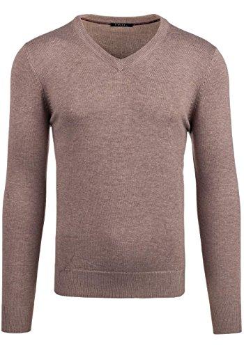 BOLF Herrenpullover Pulli Sweatshirt Sweatjacke Sweater Top MIX Braun_896