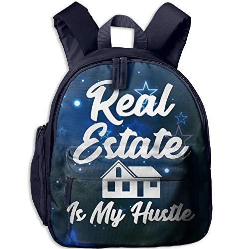Real Estate is My Hustle Toddler Mini Backpack Shoulder Schoolbag with Front Pockets