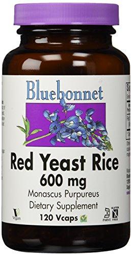 Bluebonnet Nutrition, levure de riz rouge, 600 mg, 120 Vcaps