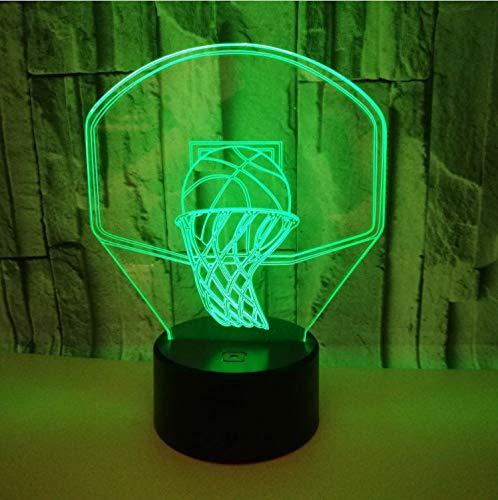Acryl Basketball Optische Illusion 3d Lava-lampe Kreativ 7 Farbwechsel Led 3d Night Light Rgb Tisch Lampe Geschenk Spielzeug