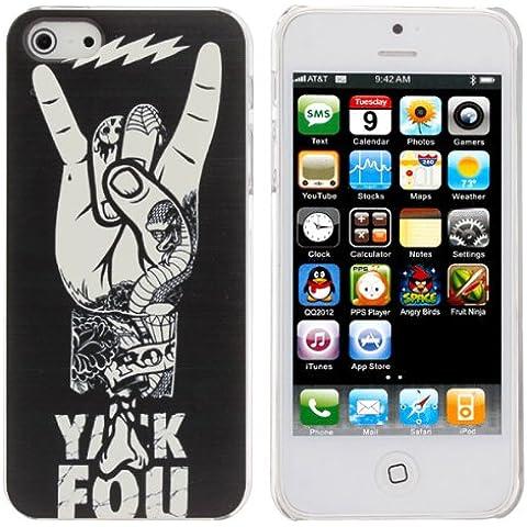 Cool Hand Negro Con Gesto amor de nuevo caso para el iPhone 5.