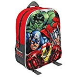 Marvel 31cm Avengers Iron Man/Captain America/Thor and Hulk Characters 3D Junior Backpack