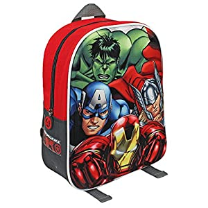 51pm0a5HvIL. SS300  - Avengers Mochila Mochila 3D Los Vengadores 31 Cm Multicolor