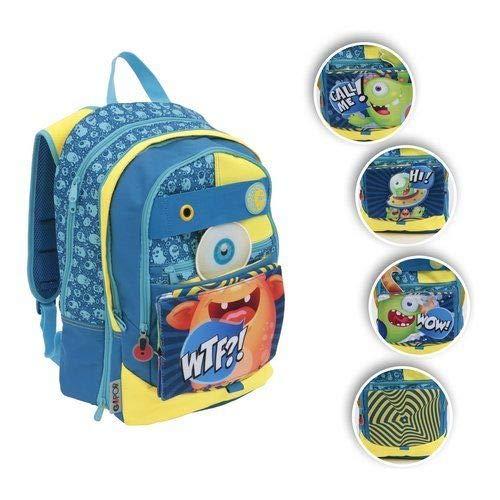 Zaino scuola gopop monster pop-up estensibile giochi preziosi stile americano + omaggio penna glitterata + segnalibro