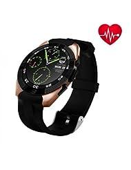 GPS montre de sport, musique, Control, Smart Watch, résistant aux rayures, FIN et écran tactile Bracelets, moniteur de fréquence cardiaque Wearable étanche tracker d'activité podomètre pour Android et iOS