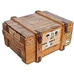 Caisse de transport Naturel Grande caisse de rangement env. 78x59x41cm Poids env. 25 kg Militaire Boîte Box en bois boîte des Munitions vin Boîte Pomme Shabby Vintage