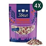 3Bears Porridge Dreierlei Beere - 4er Paket (4 x 400g) Viel Frucht Ohne Zuckerzusatz Overnight Oats Haferflocken Frühstück 100 Natürlich