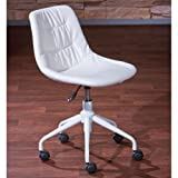 Links-Doctor A1Stuhl Büro. Dim. 47x 54x 74/82cm. PU + Metall. Weiß.