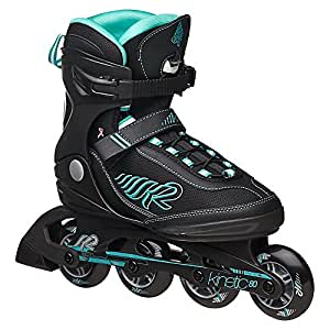 K2 Skate Damen Kinetic 80 Inline Skates, schwarz,36.5 EU