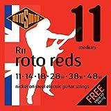 Rotosound CRS R11 Jeu de Cordes Medium 11-14-18-28-38-48 Rouge