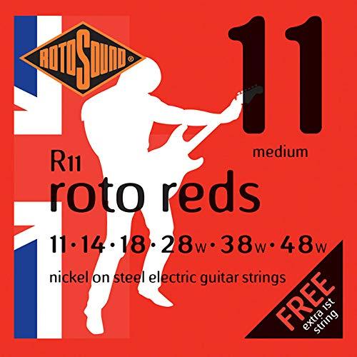 Rotosound Nickelsaiten für E-Gitarren, Stärke Medium 14 18 28 38 48 -
