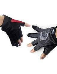 Lelantus Guantes especiales antideslizante pesca impermeables guantes de pesca de la noche