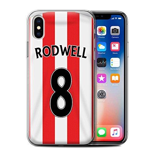Offiziell Sunderland AFC Hülle / Gel TPU Case für Apple iPhone X/10 / Kone Muster / SAFC Trikot Home 15/16 Kollektion Rodwell