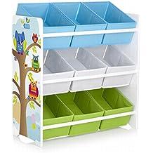 meuble de rangement jouets motif hiboux en textile non tiss pour jouets et livres ameublement