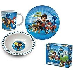 Paw Patrol La Patrulla Canina - Set de desayuno 3 piezas ceramica (Suncity PPA102034)