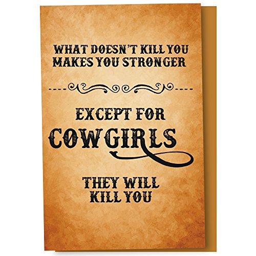 Baumfreie Grüße econotes 12Zählen Cowgirls Kill, Sie alle Anlass Karteikarten-Set mit Umschlägen, 10,2x 15,2cm (fs56304)