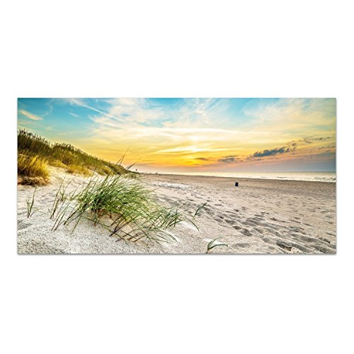 DekoGlas Glasbild \'Strand in Nordpolen\' Acrylglas Bild Küche, Wandbild Flur Bilder Wohnzimmer Wanddeko, einteilig 100x50 cm