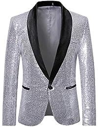 d25e5f1d210 Tefamore Trajes Hombre Chaquetas Americanas Charm Casual Un Botón Fit Suit Traje  Blazer Abrigo Abrigo de
