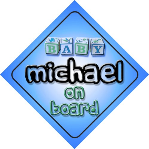 michael-on-board-baby-boy-auto-a-forma-di-cartello-regalo-per-bambini-e-neonati