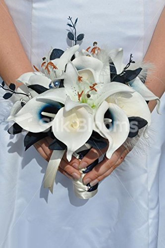 unique-artificial-navy-calla-lily-and-ivory-stargazer-lily-bridesmaid-bouquet-with-navy-foliage-and-