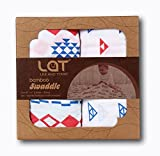 Musselin Swaddle Pucktücher aus Puckdecken,Mullwindeln für Junge und Mädchen,70% Bambus und 30% Baumwolle Musselin Decken 2 Pack