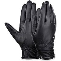 Vbiger Invernali Guanti Moto in Vera Pelle per Uomo - Pelle Moto Guanto