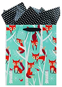 The Gift Wrap Company HALF9657-02 Recycled Bag (6 Pack), Medium, Foxy Forest, Multicolor