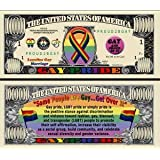 Gay Pride Million Dollar Novelty Bill by American Art Classics